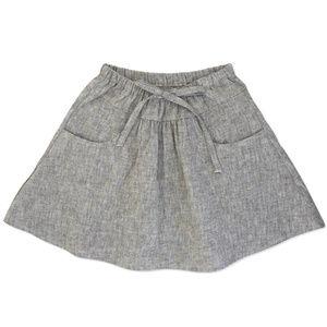 New! NEIGE 4T Taupe Linen Skirt